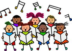 Singing Kids - stock illustration