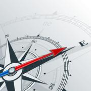 Stock Illustration of compass east