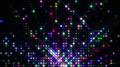 Disco Led Lights Colorful Fontain - stock footage