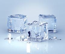 Ice cubes - stock illustration