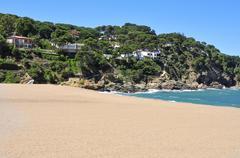 Sa Riera beach in the Costa Brava, Spain - stock photo