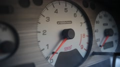 Car tachometer  Stock Footage