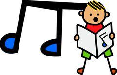 Singing Boy - stock illustration