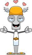 Stock Illustration of Cartoon Hermes Robot Hug