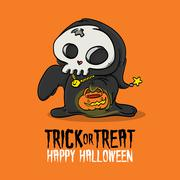 Halloween Trick or Treat Costume Stock Illustration