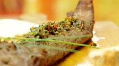 Tenderloin roast rotating slowly Stock Footage
