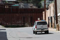 Border Patrol Drive Nogales Wall - stock photo