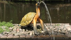 Turtle Fountain Stock Footage