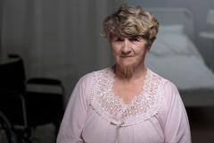 Senior woman in nursing home Kuvituskuvat