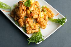 Stock Photo of Thai Pineapple Fried Calamari