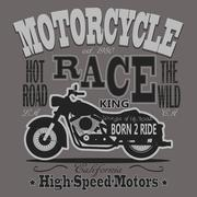 Motorcycle Racing Typography Graphics. California Motors. T-shir - stock illustration