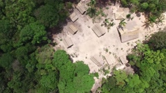 Aerial view of a Indigenous tribe in the Amazon, Brazil Stock Footage