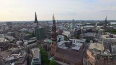 Hamburg Speicherstadt and Hafencity Aerial View - stock footage