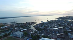 Flying over the city of Manaus, Brazil Stock Footage