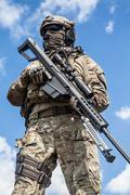 Army ranger sniper - stock photo