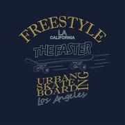 Skateboarding t-shirt graphic design - vector Piirros