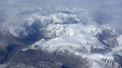 Greenland mountain range aerial Stock Footage