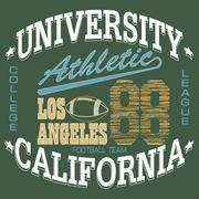 Football T-shirt graphics, California, sportswear appare - vecto - stock illustration