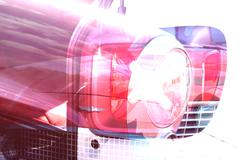 Car  abstract  photoshop, dislocated indirect subject matter, postmodern, Stock Photos