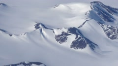 Greenland landscape close-up aerial Stock Footage