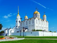 Dormition Cathedral (1160) in Vladimir, Russia - stock photo