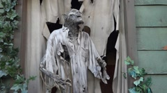 Ghost House - Window - Deadman - Loop Stock Footage