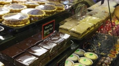 cakes and sweets - stock footage