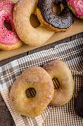 Homemade donuts Stock Photos