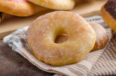 Homemade donuts - stock photo