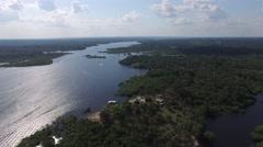 Wetlands in Amazon, Brazil Stock Footage