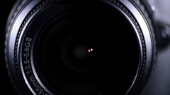 Lens Slr reflex camera focusing and shooting Stock Footage