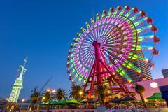 Ferris Wheel in Kobe - stock photo
