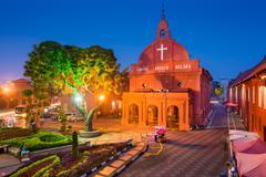 Christ Church Melaka - stock photo