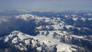 Stock Video Footage of Canadian mountain range aerial