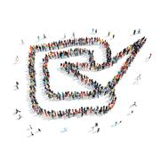 Stock Illustration of people  shape checkmark  cartoon