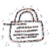 Stock Illustration of people shape  lock  cartoon