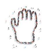 People shape  hand cartoon Piirros