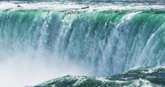 Natural Wonder of the World - The majestic Niagara Falls - stock footage