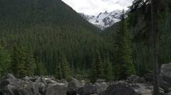 Mountain peak in Glacier national park Stock Footage