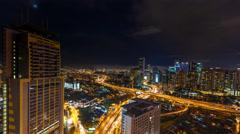 Kuala Lumpur Night Timelapse Stock Footage