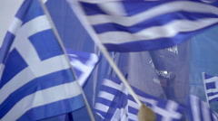 Political speech,greece pre-elections,New Democracy leader 2015 Stock Footage