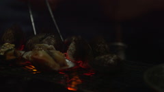 Cooking Over Fire 1 Stock Footage