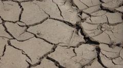 4K Zoom out cracked rural land drought soil desert earth infertile ecology dry  Arkistovideo