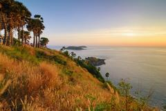 Phromthep cape at sunset, Phuket,Thailand - stock photo