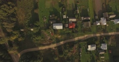 Beautiful small village. Top view. Aerial Stock Footage