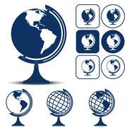 Earth Planet Globe Vector illustration Stock Illustration