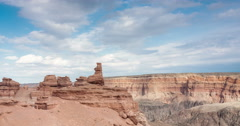 Charyn canyon in Kazakhstan Stock Footage