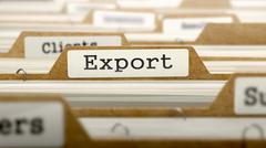 Export Concept with Word on Folder Stock Illustration
