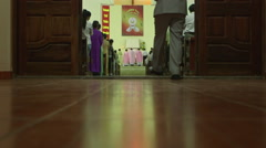 Vietnam Church Service Stock Footage
