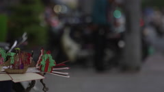 Vietnam Street Seller Cards Stock Footage